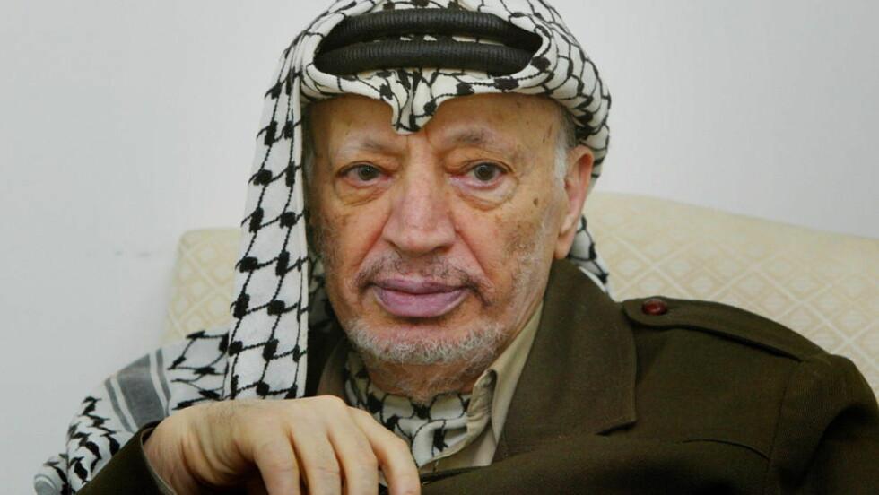 MYSTISK DØDSFALL: Det er fortsatt ikke kjent hva som tok livet av den palestinske lederen Yassir Arafat. Nå hevder den arabiske tv-kanalen Al-Jazeera at de har funnet ferske spor i den åtte år gamle saken.    Foto:Hans Arne Vedlog/Dagbladet