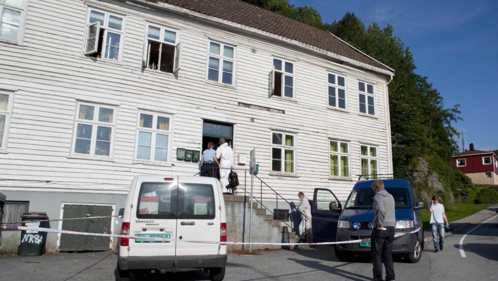 DREPT: En person er pågrepet og siktet for å ha drept en ung mann med kniv i Mandal i Vest-Agder i natt. Foto: Espen Sand/NTB Scanpix