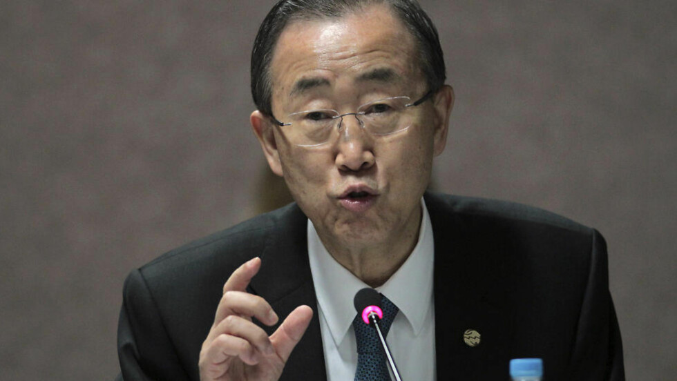 VIL KUTTE: Ban Ka-moon vil kutte antallet observatører i Syria.  Foto: REUTERS/Ueslei Marcelino