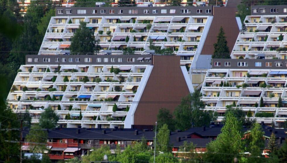DYRT: Boligblokker på Vestli. «Leieprisene i Oslo gjør det umulig for folk med studielån og ingen penger på bok å leie i sentrum,» skriver kronikkforfatteren. Foto: Heiko Junge / NTB scanpix