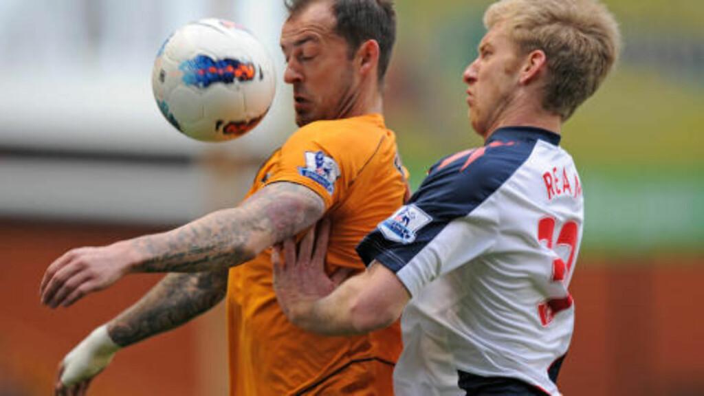 TIL PREMIER LEAGUE-KLUBB?: Wolverhampton-spiller Steven Fletcher er på vei til en annen engelsk klubb. Foto: AFP PHOTO/OLLY GREENWOOD