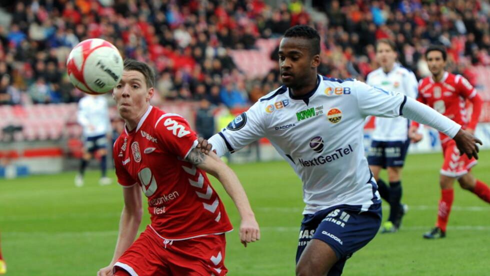 FÅR HJEMMEFORDEL: Brann og Birkir Sævarsson tar imot Ola Kamara og Strømsgodset til NM-kvartfinale i midten av august.  Foto: Marit Hommedal / Scanpix