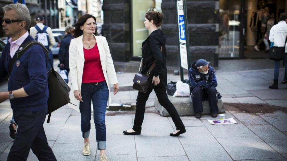 - RO DEBATTEN: AP-politiker og varaordfører Libe Rieber-Mohn sier at det er viktig å huske at det ikke bare er romfolket som bor på gata. Foto: Sondre Steen Holvik / Dagbladet