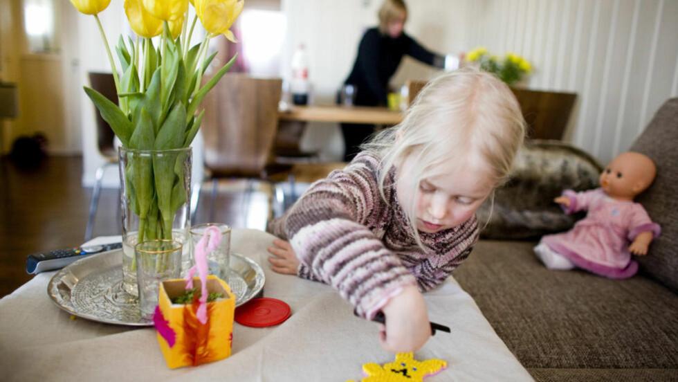 IDYLL: Glem den hjemmeværende kvinnen som stelte hjemme. I 2012 er husmora en forretningskvinne som i tillegg til å blogge om familielivet, gir ut kokebøker, oppdrar barna, innreder hjemmet og lager all mat fra grunnen av. Illustrasjonsfoto: Sara Johannessen / NTB Scanpix