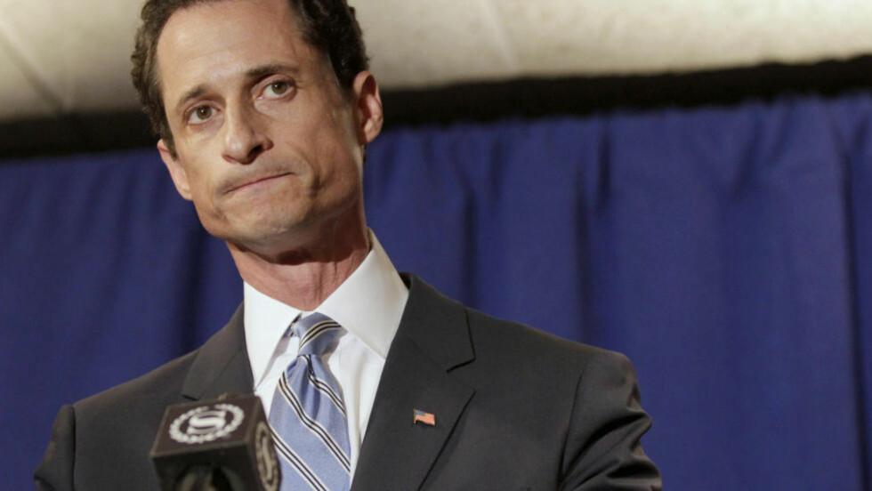 VIL BLI BORGERMESTER: Den tidligere kongressmannen Anthony Weiner vil gjøre politisk comeback. Foto: Reuters/Brendan McDermid/NTB Scanpix