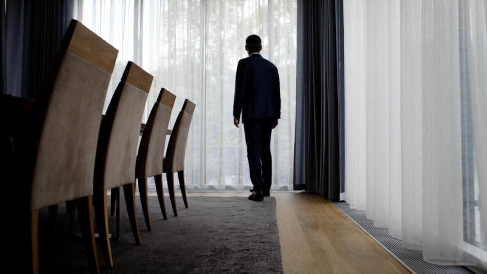 DET VERSTE ØYEBLIKKET: - Bunnen faller ut av verden. Alt håp er ute. Slik beskriver statsminister Jens Stoltenberg øyeblikket han fikk vite omfanget av massakren på Utøya. Her er han fotografert i statsministerboligen i Oslo. Foto: Adrian Øhrn Johansen/Dagbladet.