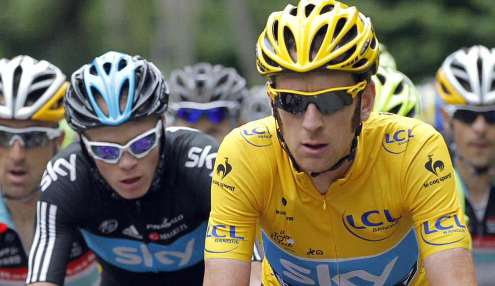 SAMMEN I TOPPEN: Sky har imponert i årets Tour de France og lederen Bradley Wiggins utelukker ikke at han i framtida kan hjelpe Christopher Froome til sammenlagtseier. Foto: REUTERS/Stephane Mahe