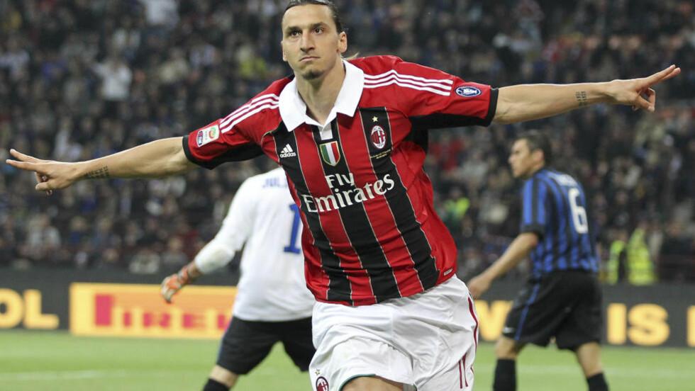 ENDELIG KLAR: Zlatan Ibrahimovic har signert for franske PSG. Foto: AP Photo/Antonio Calanni