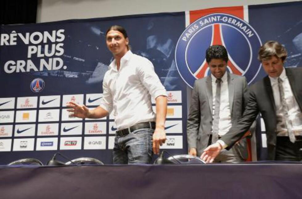 KLAR FOR PSG: Zlatan Ibrahimovic. Foto: EPA/CHRISTOPHE KARABA