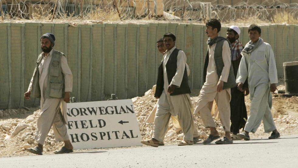 Pizzabakerne som ble kastet ut av den norske leiren Camp Nidaros i Afghanistan krever erstatning fra Forsvaret.  Foto: Heiko Junge / SCANPIX .