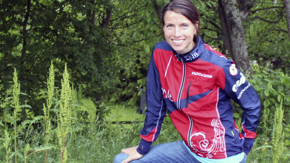 KNALLAVSLUTNING: Anne Margrethe Hausken Nordberg (36) avsluttet sterkt og sikret norsk bronse på kvinnestafetten i orienterings-VM lørdag. Foto: Stian Johnsen / NTB scanpix