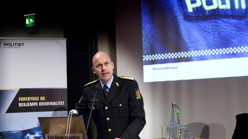 KRITIKKFORBEREDT:  Politidirektør Øystein Mæland sier politiet er forberedt på tiden politiet brukte på å rykke ut til Utøya vil bli kritisert. Foto: Torbjørn Berg / Dagbladet