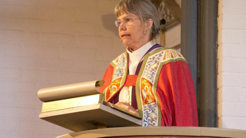MER KRITIKK VIL KOMME:  Biskop Laila Riksaasen Dahl advartte i sin tale i Hole kirke søndag om at ikke all kritikk er lagt på bordet etter 22. juli-tragedioen. FOTO: Terje Bendiksby, NTB Scanpix.