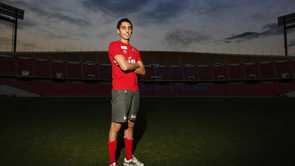 SCORET: Mostafa Abdellaoue sørget for en rask utligning for FC København i 1-1-kampen borte mot Sønderjyske i dansk superliga søndag.  Foto: Erlend Aas / Scanpix