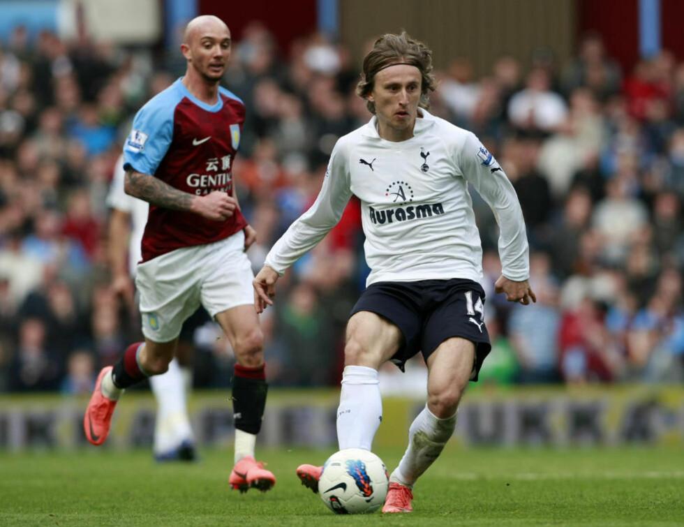 I STREIK: Luka Modric møtte verken på fredagens trening eller på flyplassen da Tottenham reiste på treningssamling til USA. Foto: AP Photo/Tim Hales/NTB scanpix