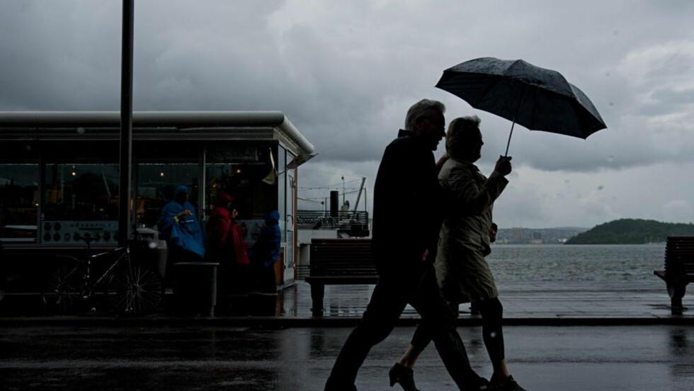 DRITTVÆR: Sommerværet har vært begredelig til nå, og også den neste måneden skal bli regnfull melder Meteorologisk institutt. Foto: BENJAMIN A. WARD / DAGBLADET