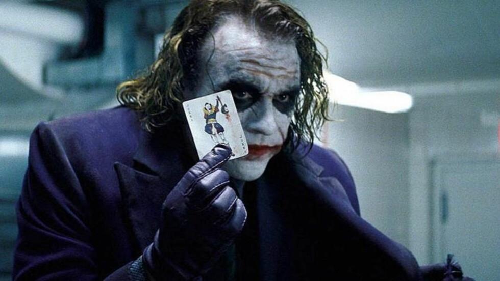 PRISBELØNT ROLLE: Heath Ledger vant en posthum Oscar-statuett for rollen som Jokeren i «The Dark Knight» fra 2008. Fire år senere begås en massakre på en førpremiere av filmens oppfølger, av en drapsmann som skal ha vært utkledd som nettopp Jokeren.