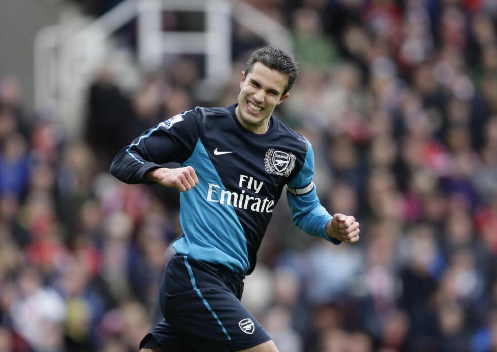 ETTERTRAKTET: Robin van Persie er sterkt ønsket flere steder, deriblant Manchester City. Foto: AP Photo/Jon Super/NTB scanpix