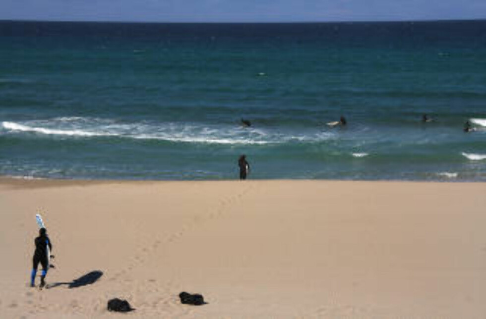 KLAR:  Klare for å ta bølgene på Orrestranda. Foto: KIRSTEN M. BUZZI   Foto: Kirsten Margrethe Buzzi