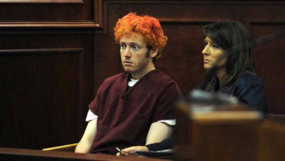 Forvirret: James Holmes under gårsdagens fengslingsmøte. Foto: Reuters