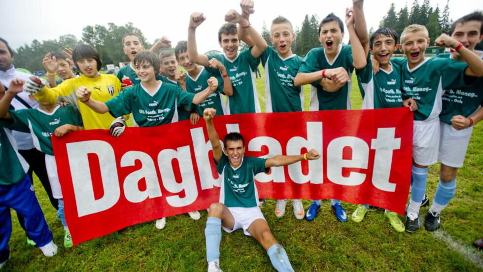 Dagblad-lag: Her er Dagbladet-cuplaget Makedonia fra fjorårets Norway-cup. Foto: Thomas Rasmus Skaug / Dagbladet