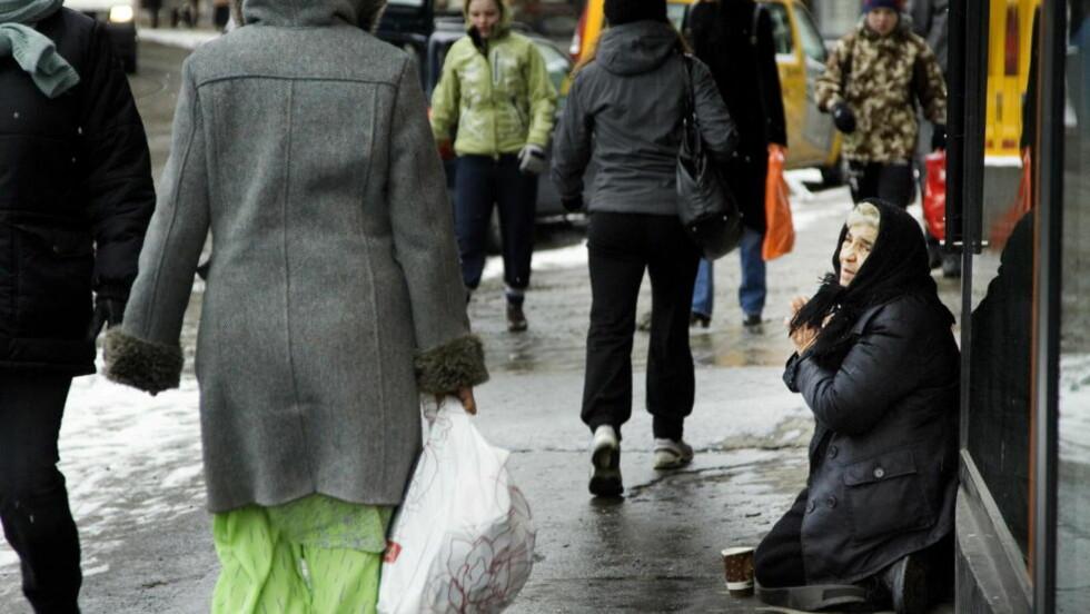 - GÅ FORBI: .  Valgforsker Frank Aarebrot råder de rødgrønne til å gå forbi tiggerdebatten.  Foto: Torbjørn Grønning/Dagbladet