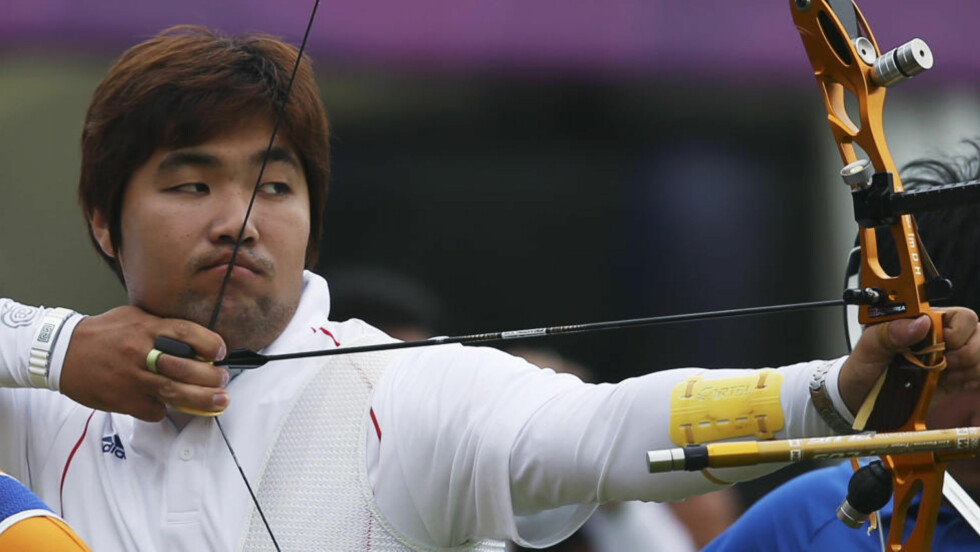 REGISTRERT SOM BLIND: Im Dong-hyun lar ikke svekket syn stoppe ham i jakten på rekorder. Foto: REUTERS/Suhaib Salem/NTB scanpix