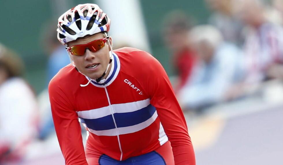 MAGETRØBBEL: Edvald Boasson Hagen fikk magetrøbbel underveis, og måtte bryte OL-rittet. Foto: Heiko Junge / NTB scanpix
