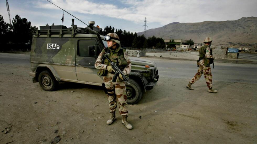 FORSVARET MANGLER OVERSIKT: På bildet ser man Norske ISAF-styrkene på oppdrag i Kabul. Foto: Espen Røst/Dagbladet