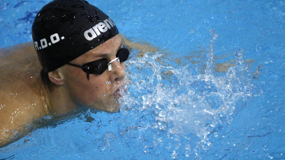 GOD OPPLEVELSE: Lavrans Solli endte på 26.-plass på 100 meter rygg i OL-debuten. Foto: SCANPIX/REUTERS/Laszlo Balogh