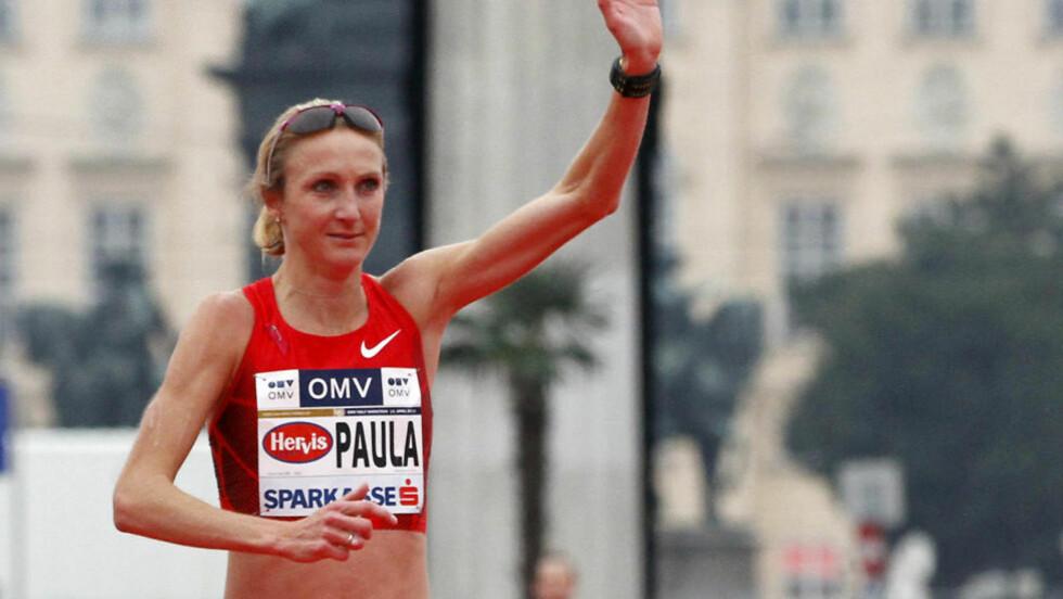 OL-NEDTUR: Paula Radcliffe mister OL-maraton på grunn av en fotskade. Foto: SCANPIX/AP/Ronald Zak