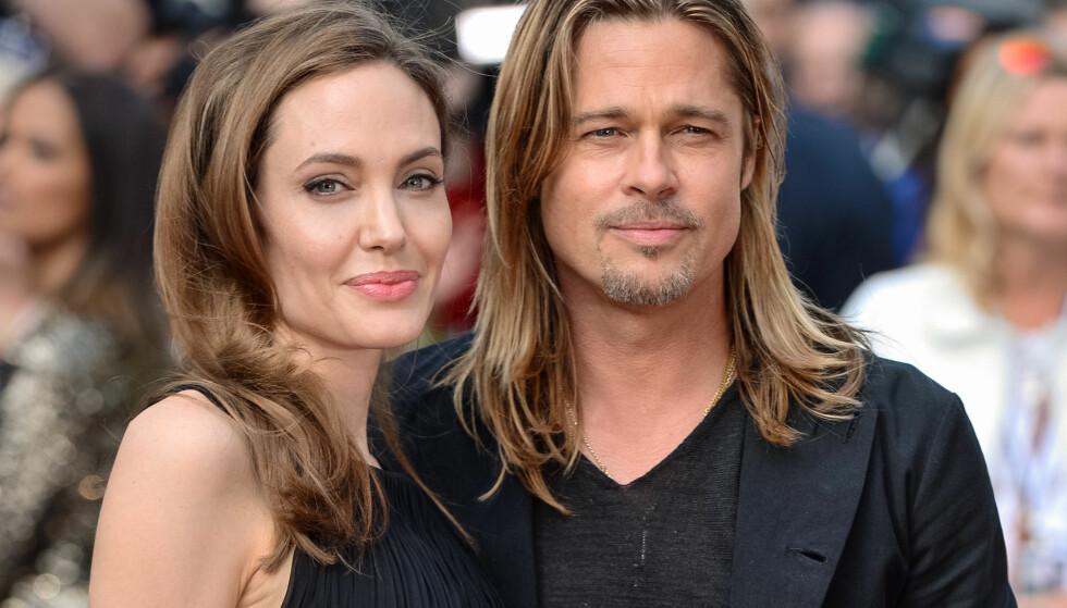 SLUTT: I dag ble det kjent at Angelina Jolie går fra Brad Pitt. Dette bildet er tatt i 2013. Foto: NTB Scanpix