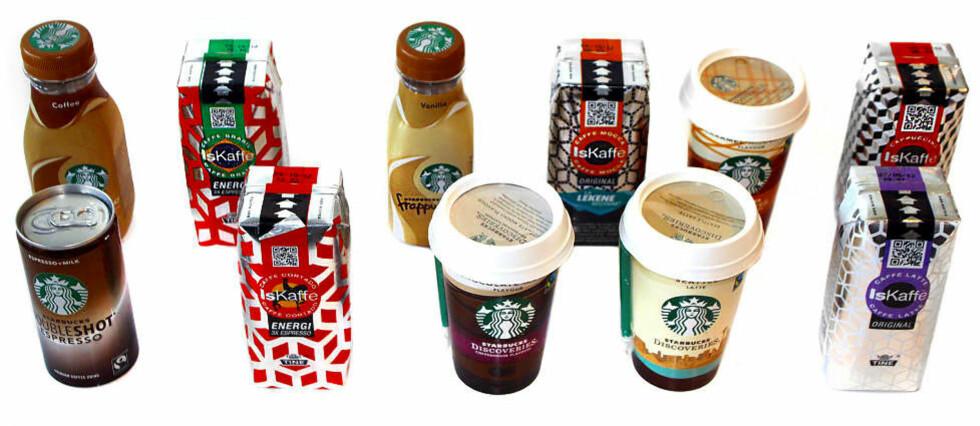 EN OPPKVIKKER: En iskaffe innimellom er helt greit når man trenger litt energi og koffein. Foto: ERIK HELGENESET