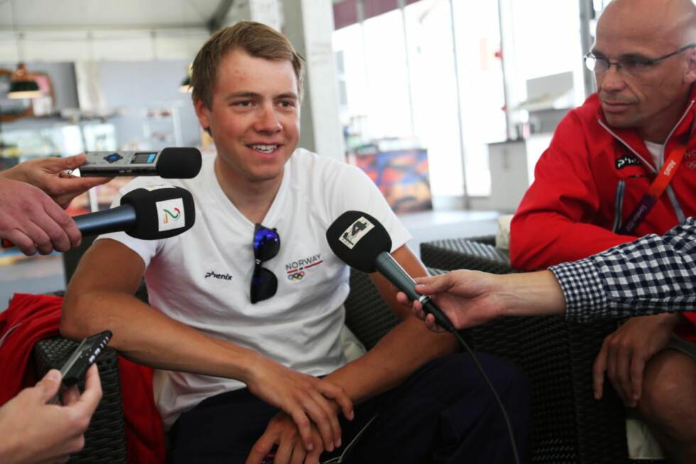 TAUS: Edvald Boasson Hagen ønsket ikke å snakke om mageproblemene som rammet ham under OL-fellesstarten på lørdag.Foto: Erik Johansen / NTB scanpix