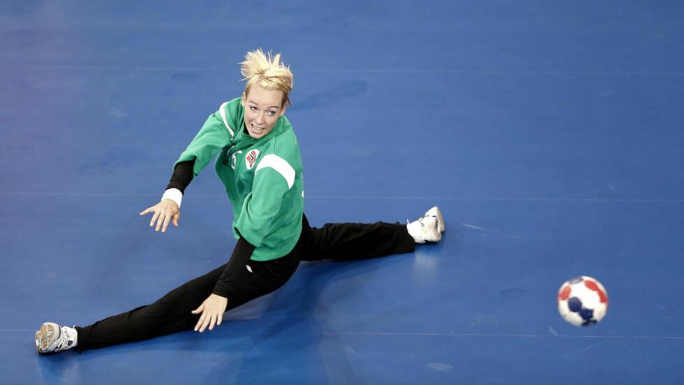 VIL SPILLE MER: Katrine Lunde Haraldsen sier hun er skuffet over at hun ikke fikk fullføre kampen mot Sør-Korea. Her fra første omgang. Foto: BJØRN LANGSEM / DAGBLADET