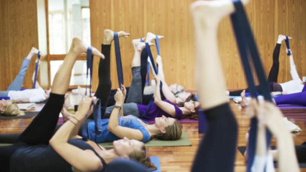 POPULÆRT Yoga blir stadig mer utbredt i Norge. Foto: Sondre Steen Holvik