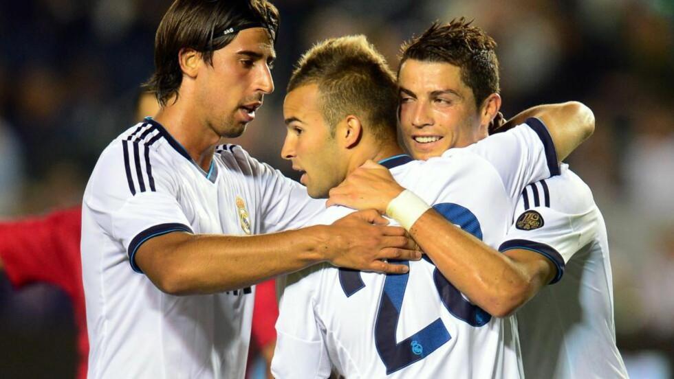 KNUSENDE SEIER: Real Madrid startet sesongoppkjøringen i USA i kjent stil da storlaget smadret Los Angeles Galaxy 5-1 i en treningskamp torsdag.  Foto:  AFP PHOTO / Frederic J. BROWN
