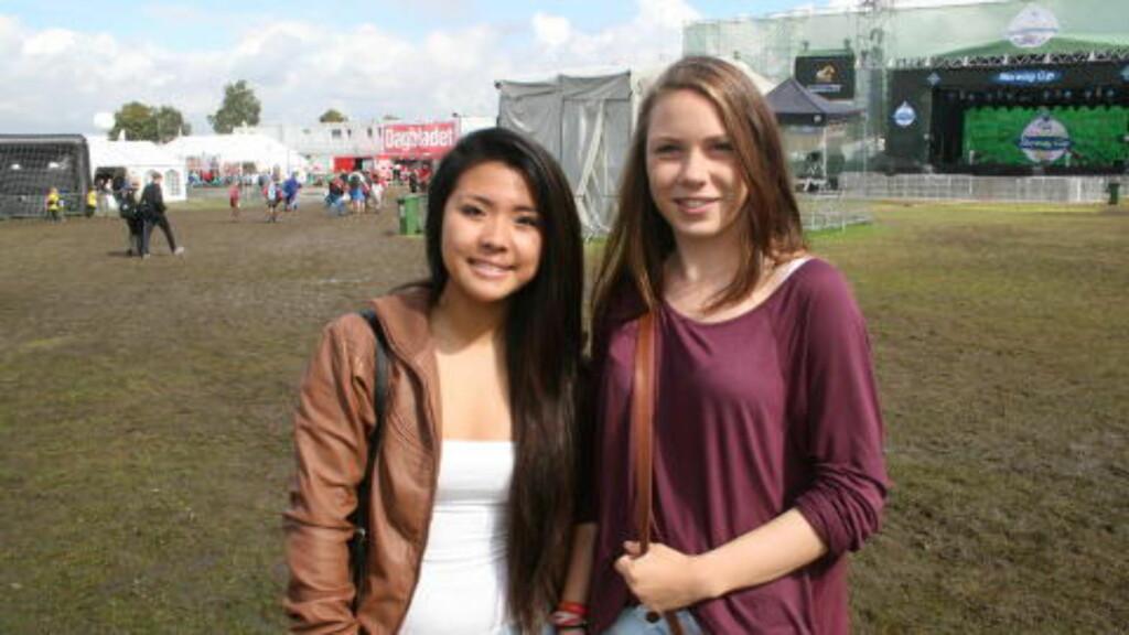 HEIER PÅ HERREM: Stavanger-jentene My Hay Nguyen og Mari Tjelta. Foto. Fredrik Ø. Sandberg