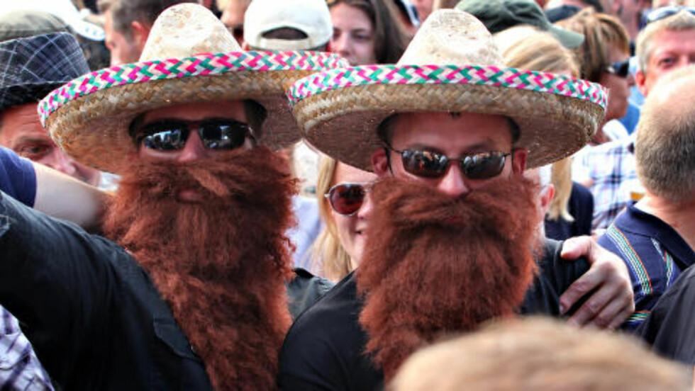 LURESKJEGG: ZZ Top-fans på bandets konsert fredag kveld. Men Texas-trioen innfridde ikke. Foto: Bjørn-Owe Holmberg / Dagbladet