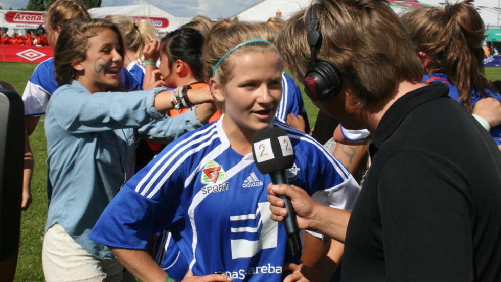SCORET I FINALEN: Gneist og Randi Lien vant Norway Cup i klassen for J16. Lien scoret ett mål i 2-0-seieren. Foto: Fredrik Ø- Sandberg / Dagbladet.