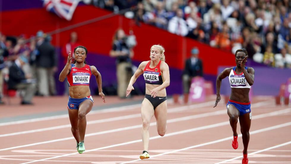 I FINT SELSKAP:  Ezinne Okparaebo har trent seg opp i den dopingbefengte sprinten. Det er denne ærlige muligheten norske idrettsledere må stå opp for også når det koster. FOTO: Bjørn Langsem/Dagbladet.