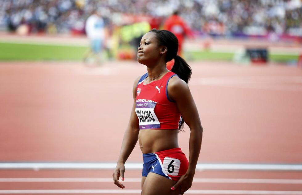 NESTEN: Ezinne Okparaebo leverte karrierens beste 100 meter, og hadde fortsatt muligheten på finaleplass før det siste semifinaleheatet. Til slutt røk plassen med ni hundredeler. Foto: Bjørn Langsem / Dagbladet.