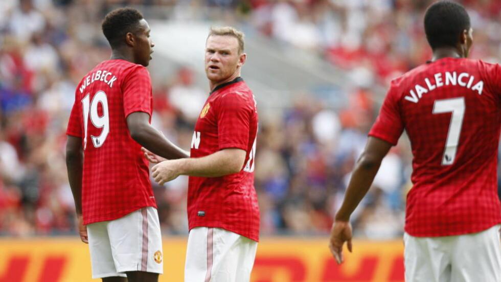 INGEN MÅLFEST: Wayne Rooney og de andre Manchester United-spillerne sleit med å score mot Vålerenga på Ullevaal i ettermiddag.Foto: Audun Braastad / NTB scanpix