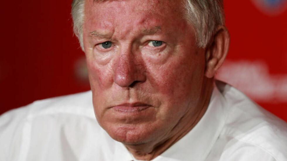 BLE IKKE MED TIL OSLO: Alex Ferguson reiste ikke til Oslo fra Manchester lørdag kveld. Ifølge britiske aviser ble han hjemme for å sikre United nye storkjøp. Foto: REUTERS/Aly Song