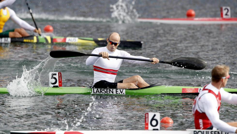 OPTIMALT LØP: Eirik Verås Larsen håper han skal få enda mer fart på båten i finalen onsdag. Foto: Bjørn Langsem / Dagbladet.