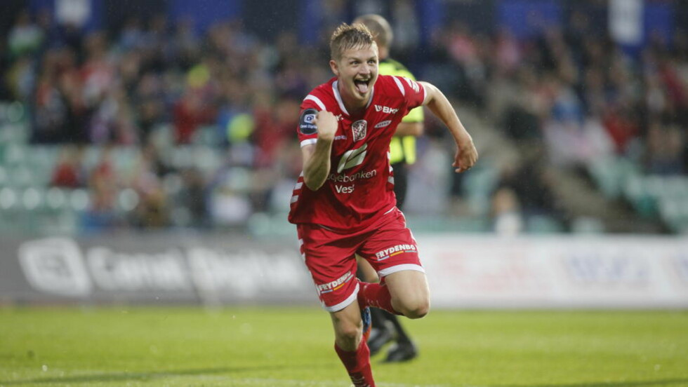 LEKKERBISKEN: Erik Huseklepp scoret og var ellers meget god for Brann mot Stabæk. Foto: Stian Lysberg Solum / NTB scanpix