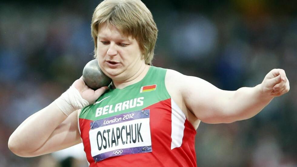 VANT SUVERENT: Nadzeja Ostaptsjuk ble suveren OL-mester i kule. Hun hadde finalens fire lengste støt og seiret med 21,36 Foto: EPA/DIEGI AZUBEL