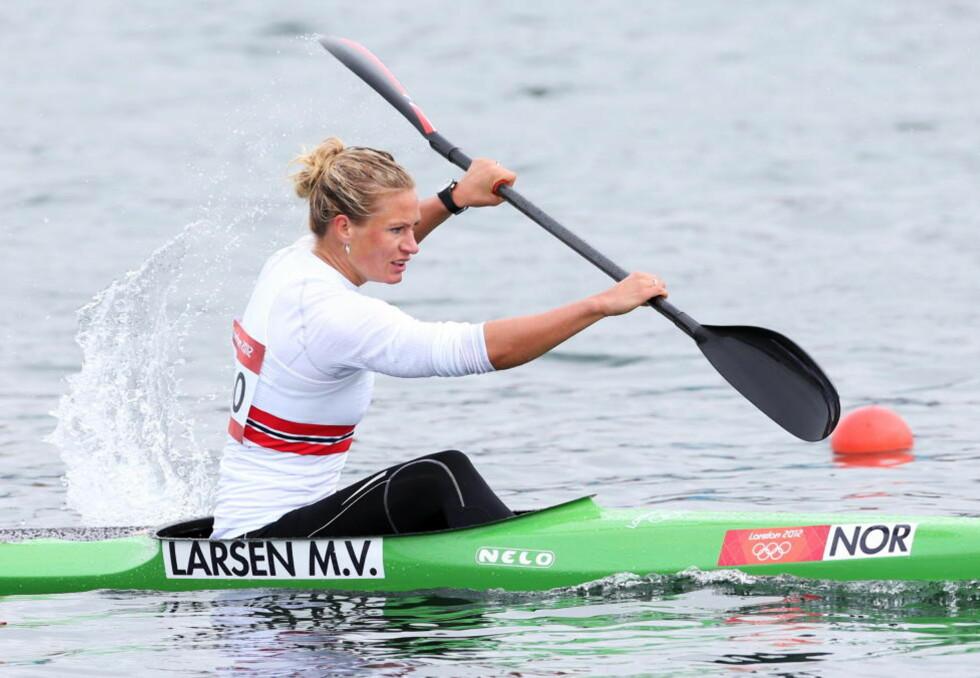 INGEN B-FINALE: Mira Verås Larsens OL-deltakelse endte i semifinalen på K1 500 meter. Foto: Erik Johansen / NTB Scanpix