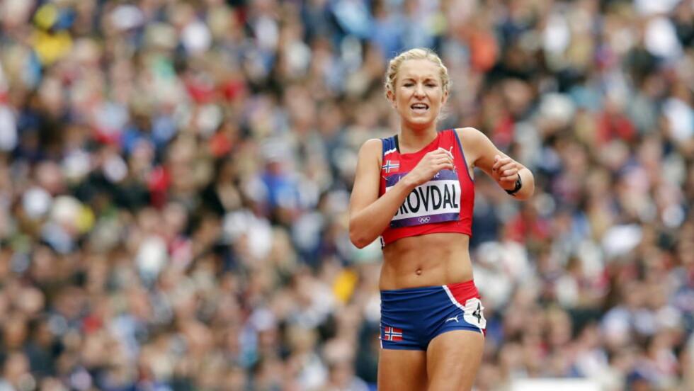 REKORDLØP: Karoline Bjerkeli Grøvdal har aldri løpt en raskere 5000-meter enn den hun levert i OL i dag. Men drømmen var en enda bedre tid og en plass i OL-finalen. Foto: Heiko Junge / NTB scanpix