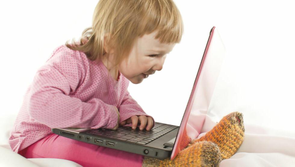 KREVER LITT SIKRING: Det finnes smarte løsninger som gjør PC-en ganske idiotsikker for små barn. FOTO: Colourbox
